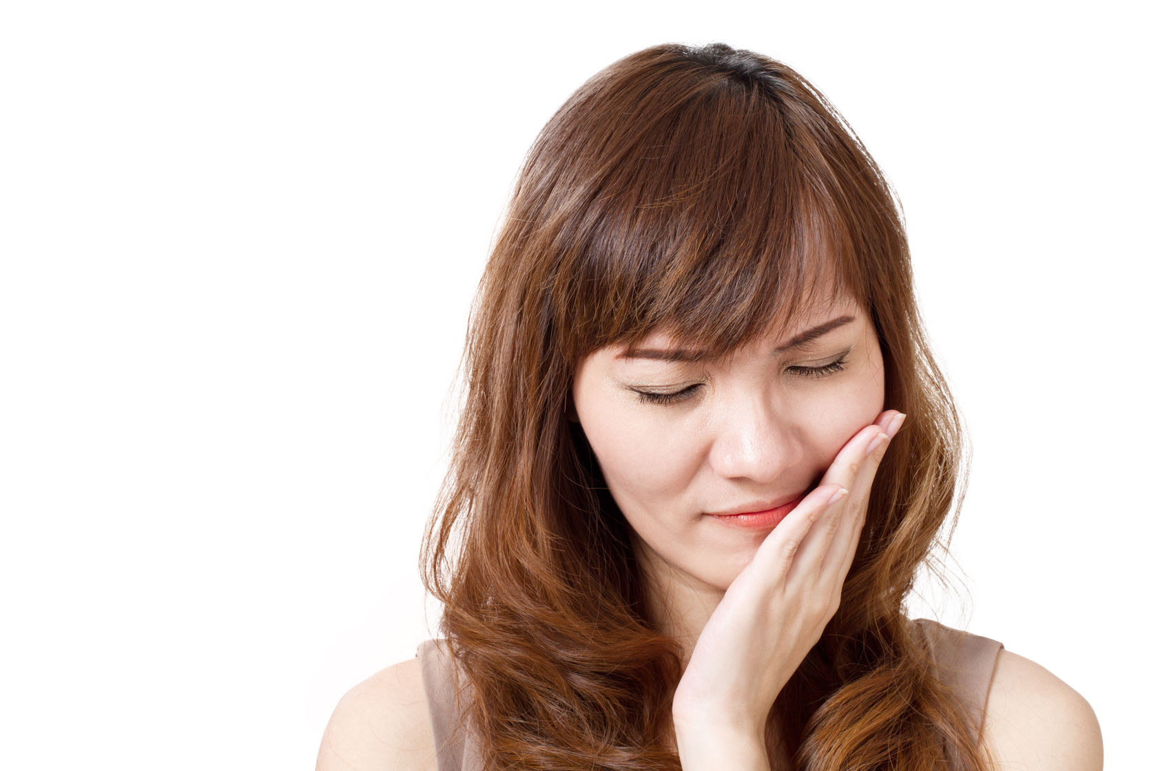 30090530 - woman suffers from toothache